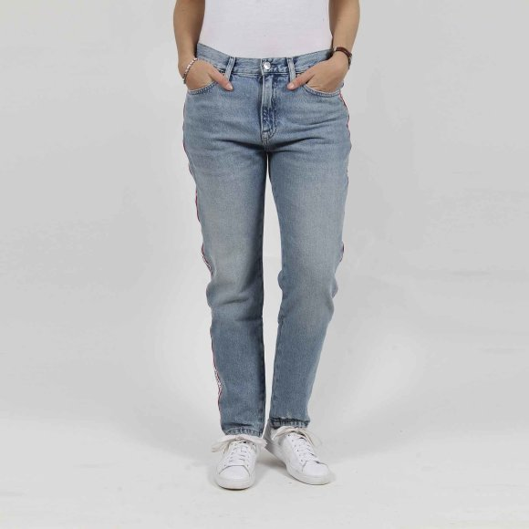 tommy jeans – High rise slim izzy crop på kingsqueens.dk