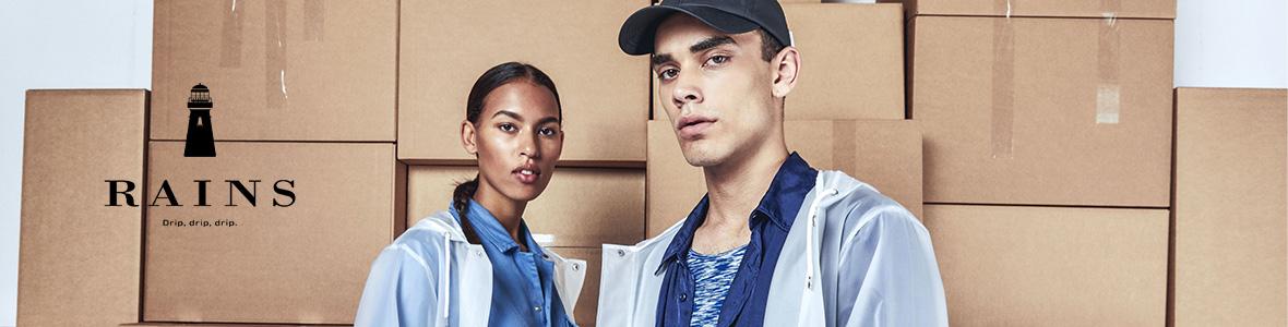 Shop de fede Rains jakker til mænd online. Hurtig levering