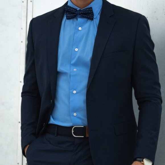 Basic Suit Blazer Navy