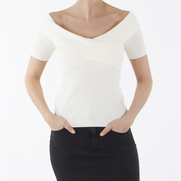 Image of   Objfeva ss off shoulder knit