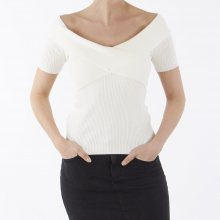 Object - Objfeva ss off shoulder knit