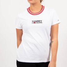 Tommy Jeans - Tjw rib stripe neck tee