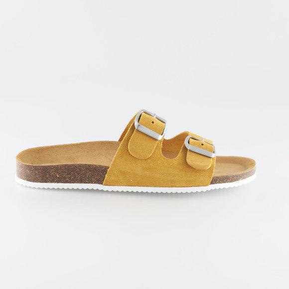 pieces – Psliina suede sandal fra kingsqueens.dk