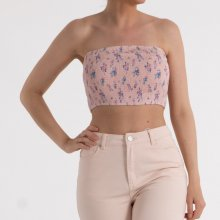 NA-KD - Floral shirring bandeau top