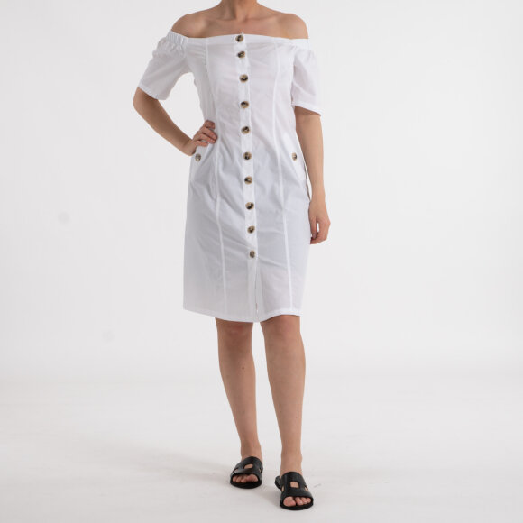 Image of   Bardot button up midi dress