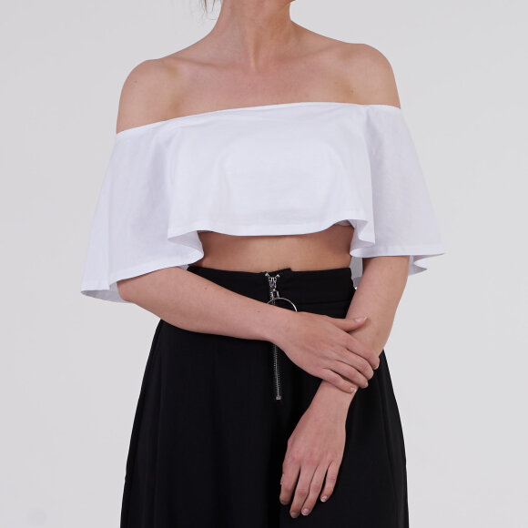 Image of   Ruffle bardot top