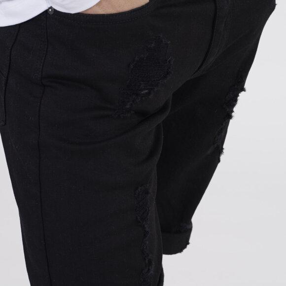 Black rebel - Revolver shorts black destroy