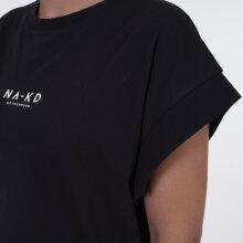NA-KD - Logo cropped boxy t-shirt