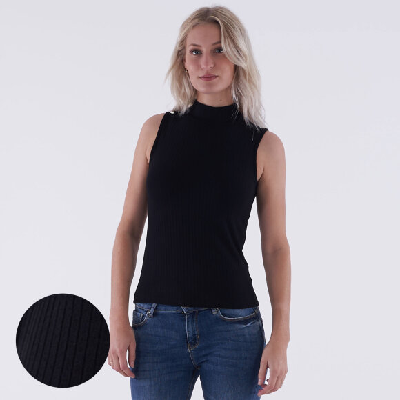 Image of   Turtle neck sleeveless top