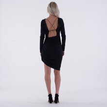 NA-KD - Long sleeve open back dress