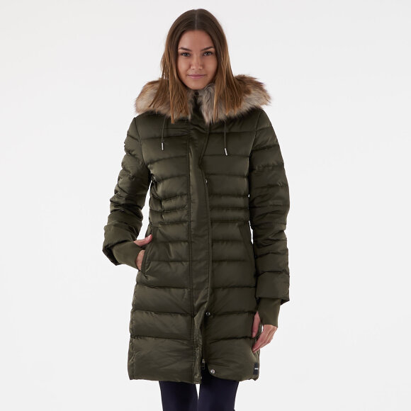 Image of   Mid weight down long parka