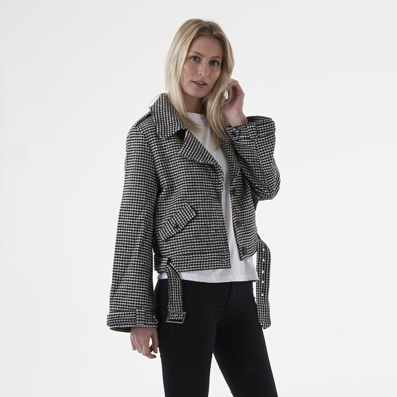 Image of   Check biker jacket