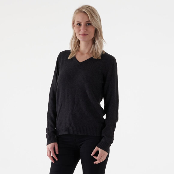 Image of   Viril l/s v-neck knit top fav