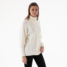 NA-KD - High neck cable knit rib sweat