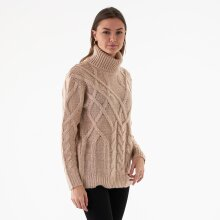 NA-KD - Cable knit high neck sweater