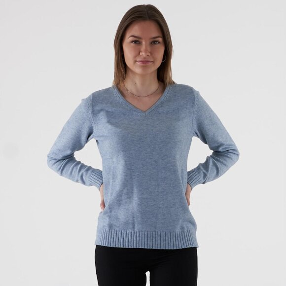 vila Viril l/s v-neck knit top på kingsqueens.dk