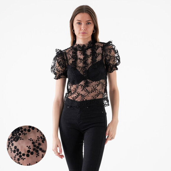 Image of   Open back lace top