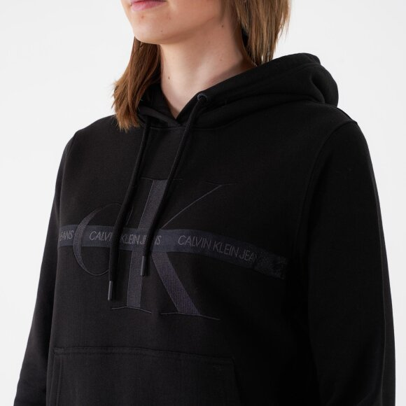 Calvin Klein - Taping through monogram hoodie