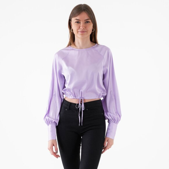 Image of   Drawstring detail satin blouse