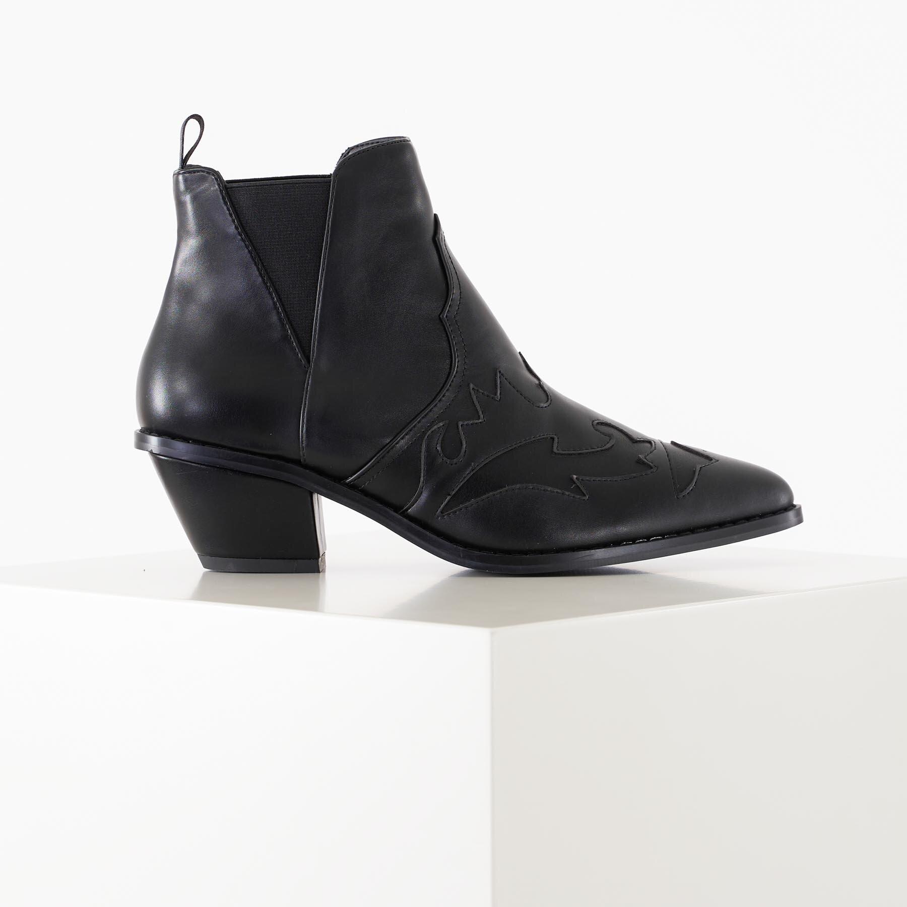 Køb NA-KD – Ankle cowboy bootie – Støvler til damer – Sort – 36