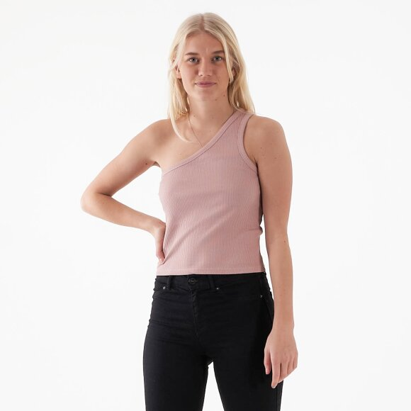 Image of   One shoulder ribbed top