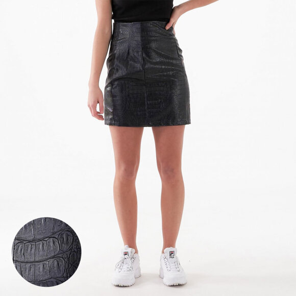 Image of   Pu reptile mini skirt