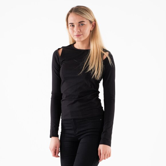 Image of   Cut out round neck top
