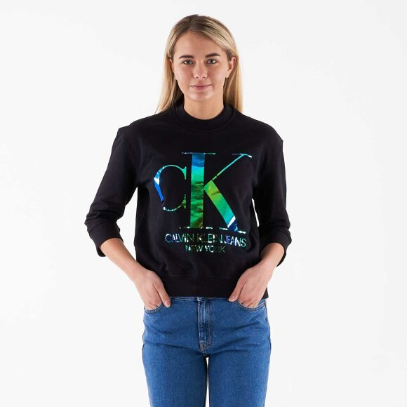 Image of   Iridescent monogram crew neck