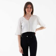 NA-KD - Wide ribbed knitted button top