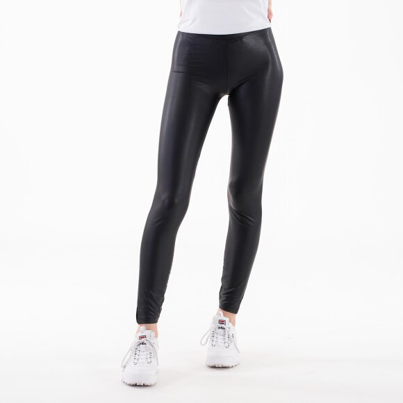 Image of   Pcnew shiny mw slit leggings