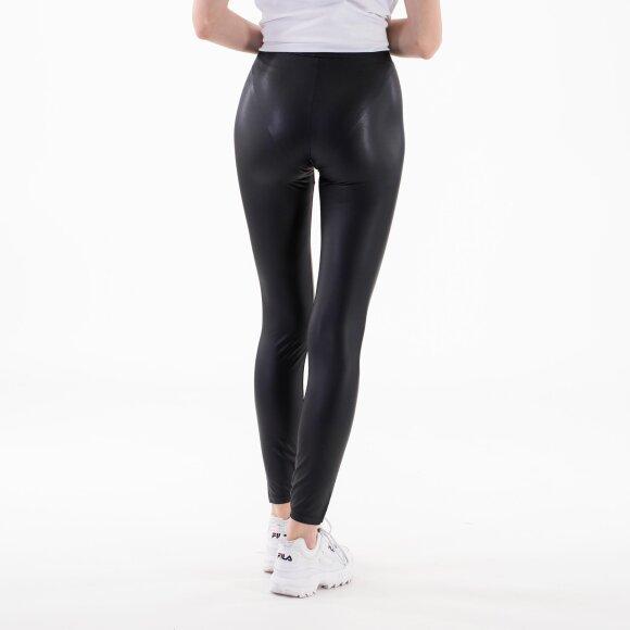 Pieces - Pcnew shiny mw slit leggings