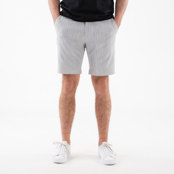 Image of   Como light pinstripe shorts