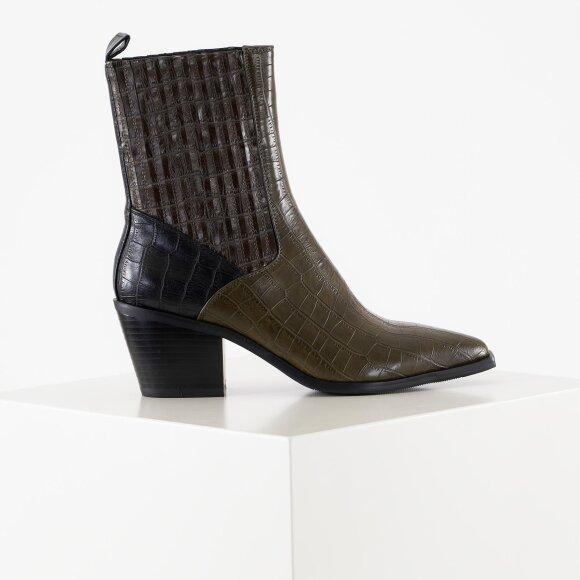 na-kd Multi color western boots fra kingsqueens.dk