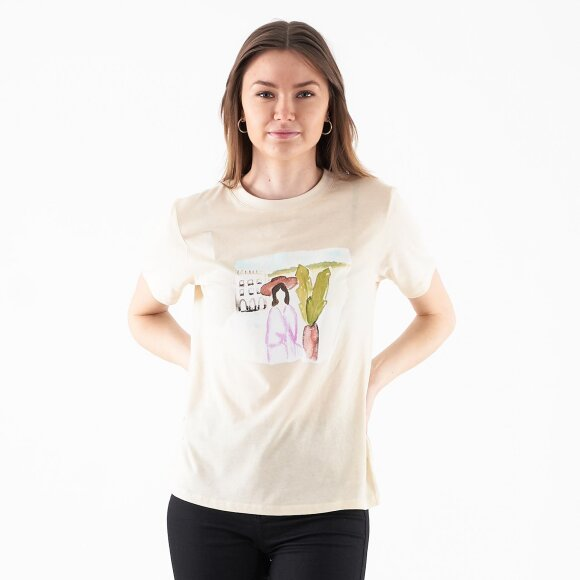 Image of   Palm tree watercolor tee