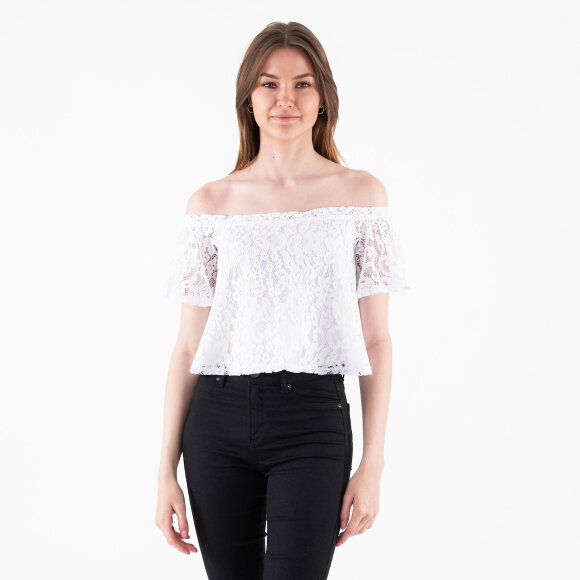 Image of   Off shoulder lace top