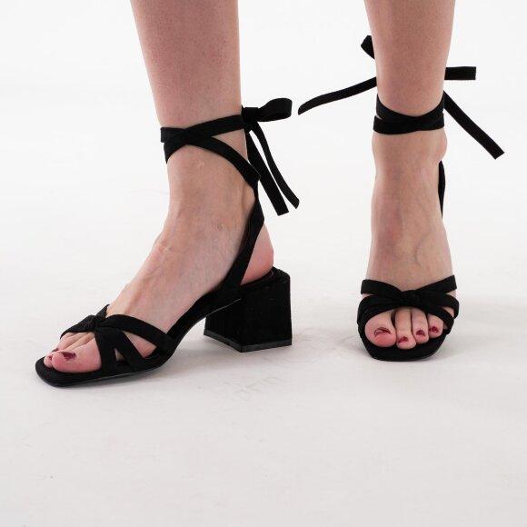 NA-KD - Faux suede ankle strap heels