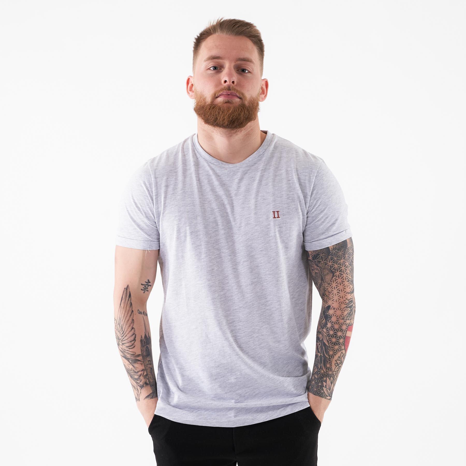 Les Deux - Nørregaard tee - T-shirts til mænd - Grå - XS