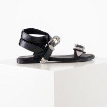Pieces - Psadine leather sandal*