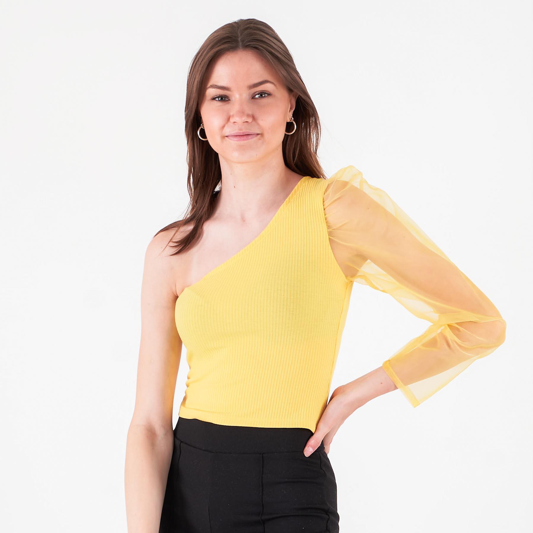 Køb Pure friday – Purbell one shoulder – Bluser og skjorter til kvinder – Gul – XL