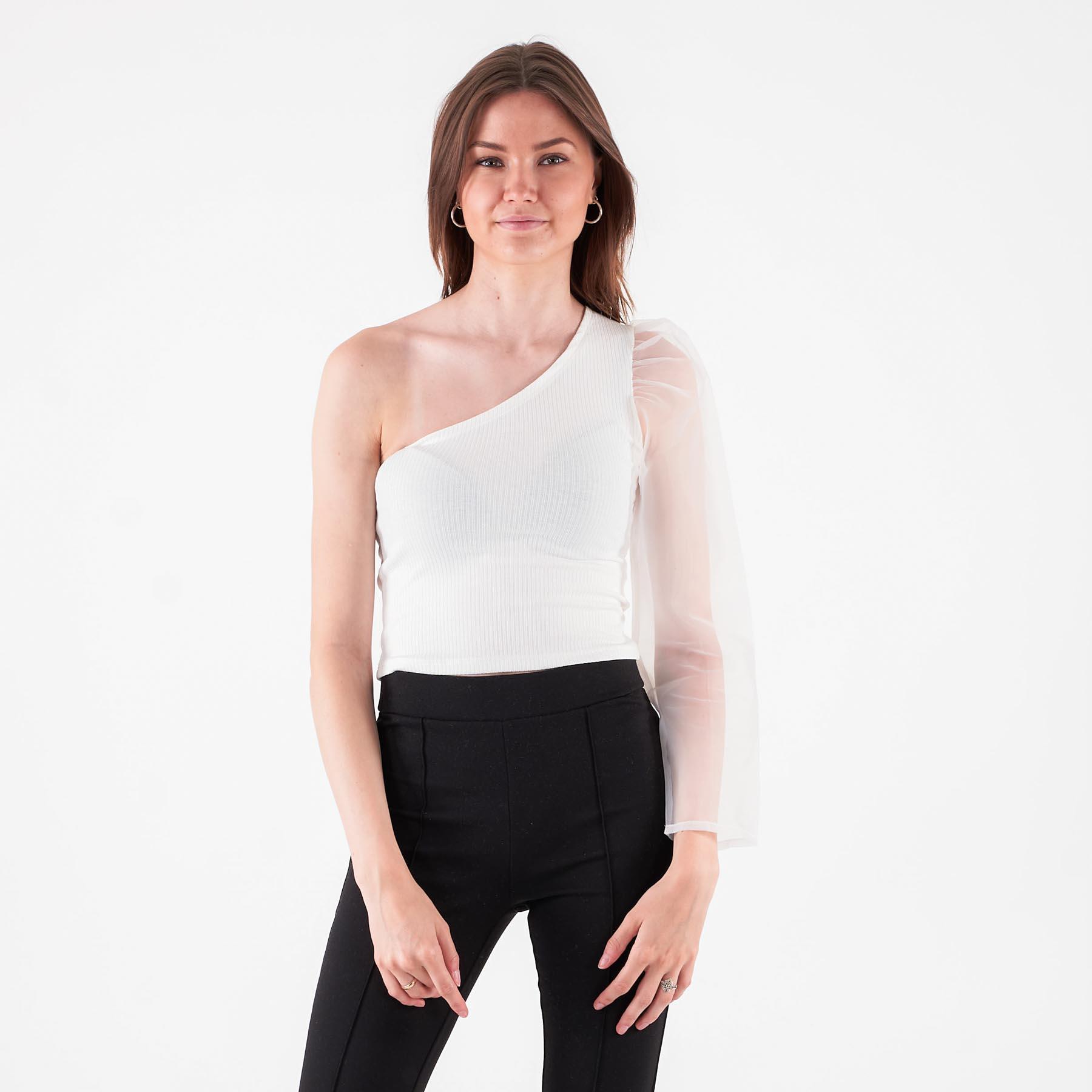Køb Pure friday – Purbell one shoulder – Bluser og skjorter til kvinder – Hvid – XL