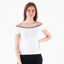 Calvin Klein - Logo trim ss bardot top
