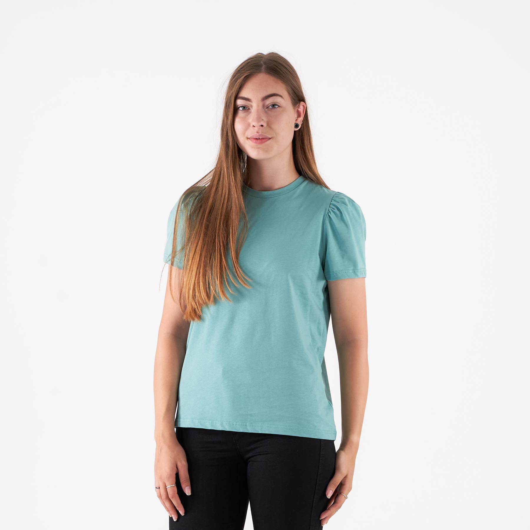 Pure friday - Purbeli puff tee - T-shirts til damer - Grøn - XL