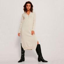 NA-KD - Side slit knit dress