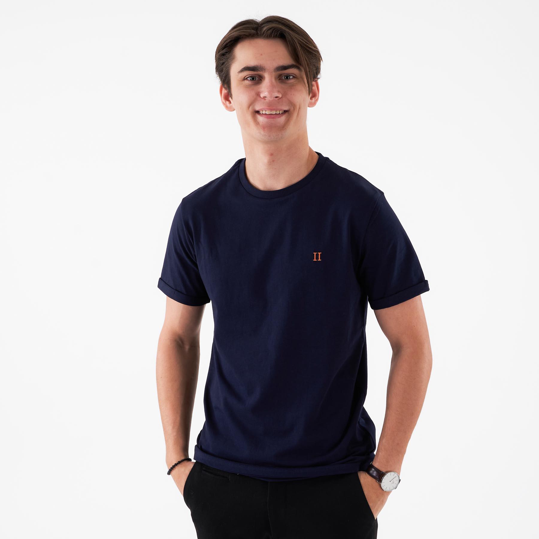 Les Deux - Nørregaard t-shirt - T-shirts til mænd - 4646 DARK NAVY - XXL