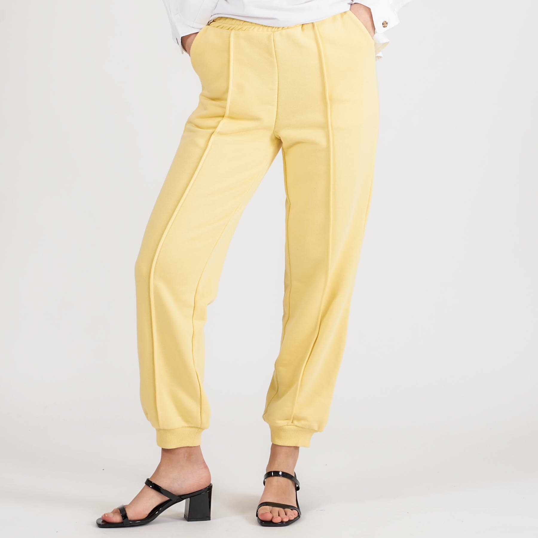 Køb NA-KD – cropped sweatpants – Damebukser – Gul – L
