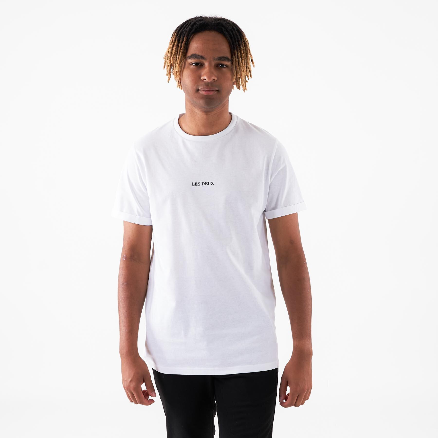 Les Deux - Lens T-Shirt - T-shirts til mænd - 201100-WHITE/BLACK - S