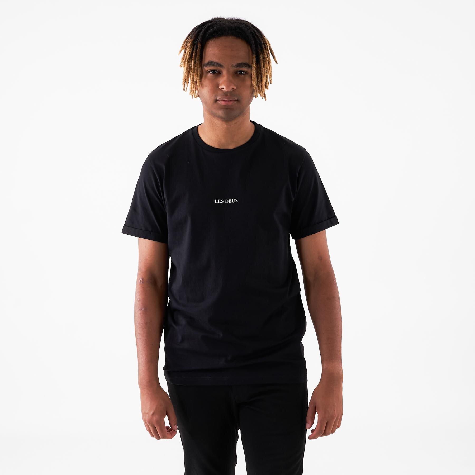 Les Deux - Lens T-Shirt - T-shirts til mænd - 100201-BLACK/WHITE - S