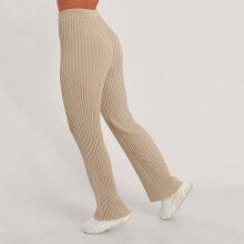 NA-KD - ribbed knitted pants