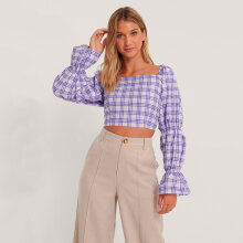 NA-KD - Crop cotton blouse