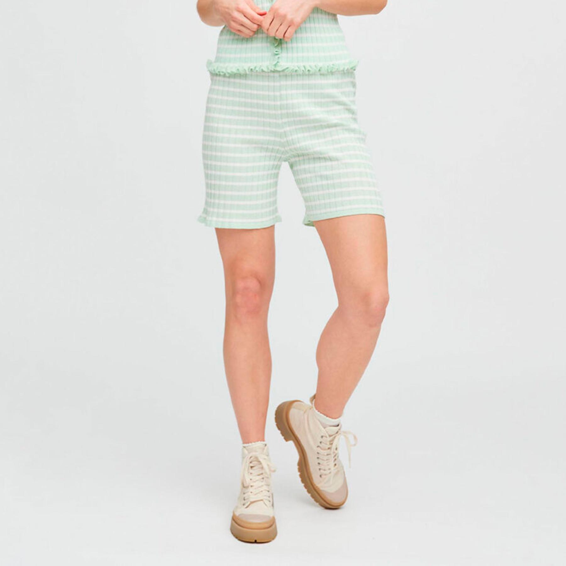 Køb A-view – Sira shorts – Shorts til damer – 111 PALE MINT/OFF WH – 34